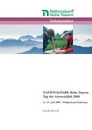Endbericht Nationalpark Hohe Tauern Tag der Artenvielfalt 2008