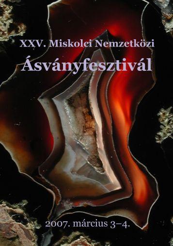 mf2007.pdf (2,1 MB) - Herman Ottó Múzeum Ásványtára