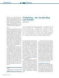TV-Banking – der visuelle Weg zum Kunden - Finanzplaner TV