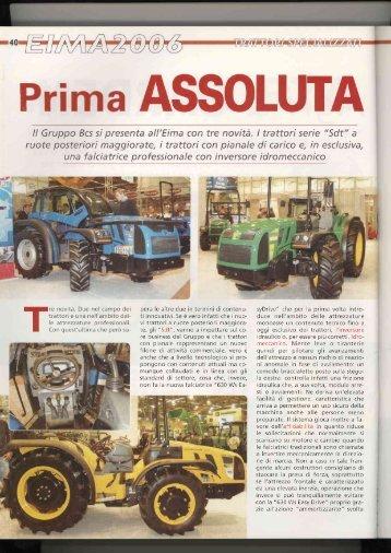 """II Gruppo Bcs si presenta all'Eima con tre novità. I trattori serie """"Sdt ..."""