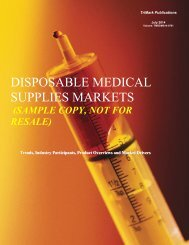 disposable medical supplies markets - TriMarkPublications.com