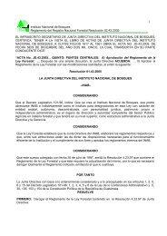 Reglamento de la ley forestal - sifgua
