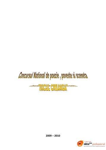 Concursul National de poezie poveste