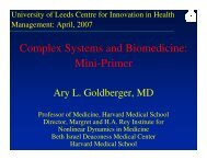 Complex - Centre for Innovation in Health Management - University ...