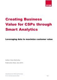 Creating Business Value for CSPs through Smart Analytics - Amdocs
