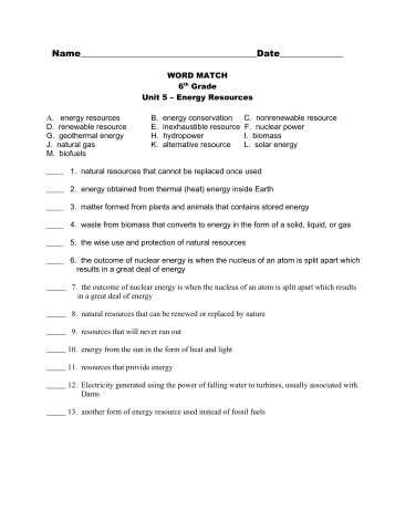 6th Grade Unit 5 Vocabulary Test Pdf M En Isd