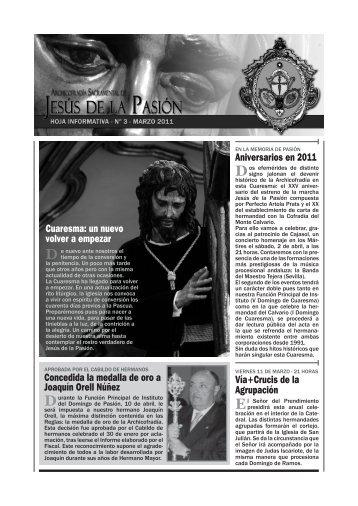 Aniversarios en 2011 Concedida la medalla de oro a Joaquín Orell ...