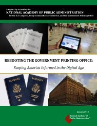 Rebooting the Government Printing Office - National Academy of ...