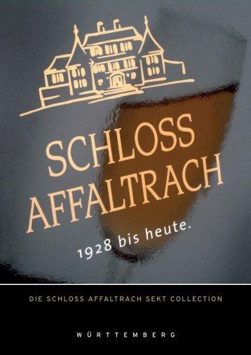 die schloss affaltrach sekt collection - Schlosskellerei Affaltrach Dr ...