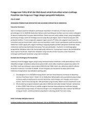 Penggunaan Policy Brief dan Web-based untuk Komunikasi antara ...