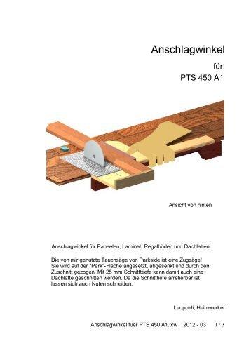 Anschlagwinkel fuer PTS 450 A1.