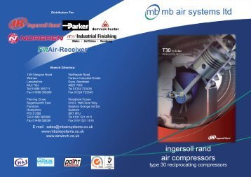 ingersoll rand air compressors - mb air systems ltd