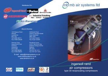 ingersoll rand air compressors - mb air systems ltd