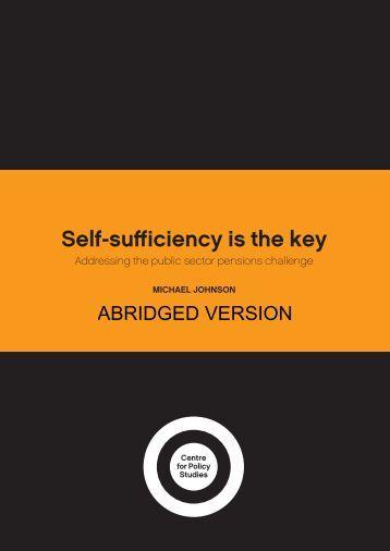 Self-sufficiency is the key - Social Welfare Portal