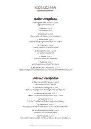 Speisekarte als PDF herunterladen - Kouzina