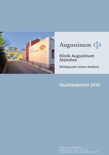 Klinik Augustinum München Qualitätsbericht 2010