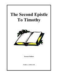 The Second Epistle To Timothy - Executable Outlines