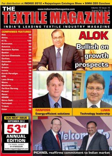 oct. & nov. 2012 - The Textile Magazine