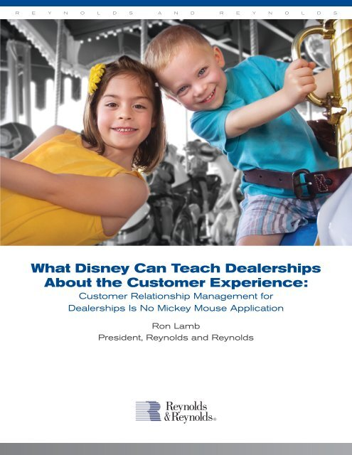 What Disney Can Teach Dealerships About the Customer Experience: