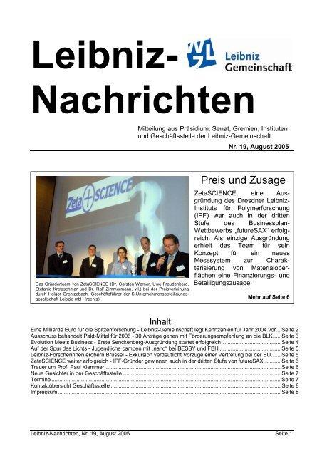 Nachrichten - Leibniz-Institut für Katalyse