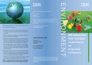 ENVIRONMENT IBM Replacement Toner Cartridges: - Memorandum