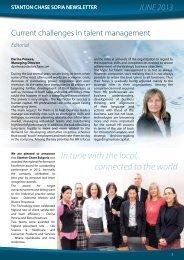 Stanton Chase Sofia Newsletter June 2013