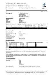 GUTACHTEN zur ABE Nr. 46699 nach §22 StVZO Anlage 1 zum ...