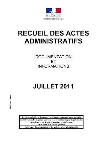 Mensuel Juillet - 0,39 Mb - 08/12/2011 - Préfecture de la Manche