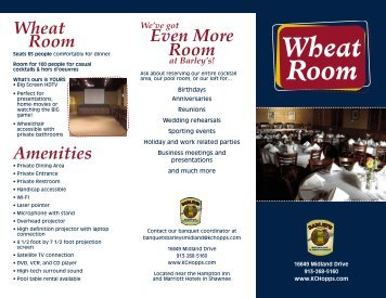 What's on in Barley's Wheat Room? - Barley's Brewhaus