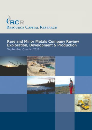 Rare and Minor Metals Company Review Exploration, Development ...