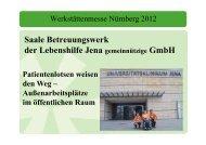 Außenarbeitsplätze - Werkstätten:Messe