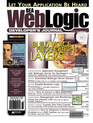 Developments - sys-con.com's archive of magazines - SYS-CON ...