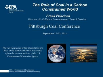 The Role of Coal in a Carbon Constrained World