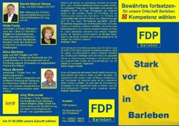 Daniel-Marcel Hesse ledig, seit 2009 Mtglied der ... - FDP Barleben