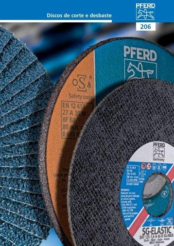 Catálogo 206 - Discos de corte e desbaste - PFERD