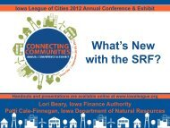 What's New with the SRF? - Iowa League of Cities