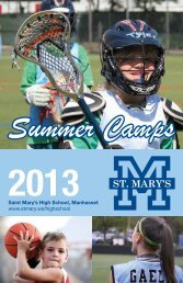 Summer Camp Brochure 2013
