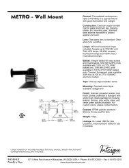 METRO - Wall Mount - Phoenix Products
