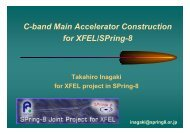C-band Main Accelerator Construction for XFEL/SPring-8