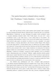 małgorzata komorowska - Stowarzyszenie De Musica