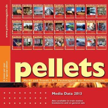 Pellets-Mediadaten 2013_EN - Pellets Markt und Trends