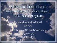 Oklahoma Stream Team: Developing an Urban Stream Protection ...