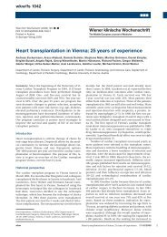 Heart transplantation in Vienna: 25 years of ... - ResearchGate