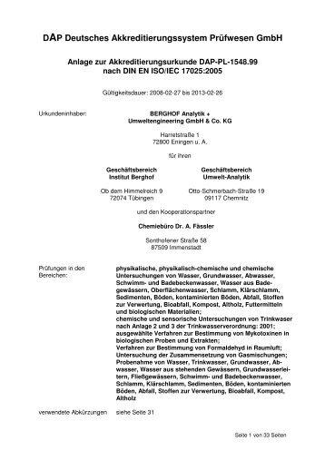 DAP Deutsches Akkreditierungssystem Prüfwesen GmbH - DAkkS