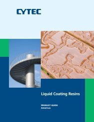 Liquid Coating Resins - CYTEC Industries