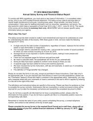 MHA Salary Survey FY 2012 Instructions final - DHMH - Maryland.gov