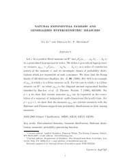 natural exponential families and generalized hypergeometric