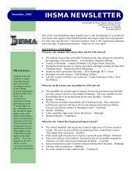 IHSMA NEWSLETTER - The Iowa High School Music Association