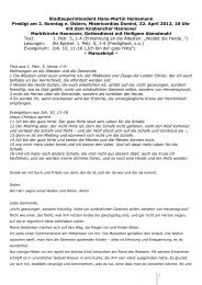Hans-Martin Heinemann: Predigt am 22. April 2012 in der Marktkirche