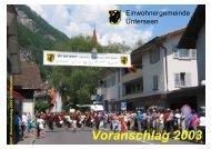 Voranschlag 2003 - Unterseen
